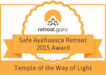Safe Ayahuasca Retreat 2015 Award